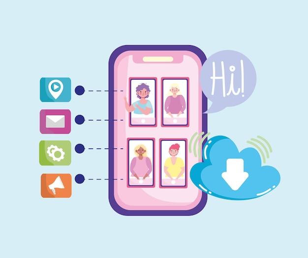 Smartphone persone media