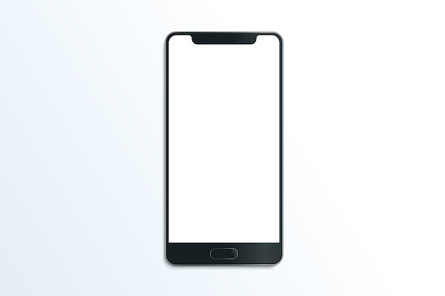 Smartphone realistico vettore mockup comunicazione mobile illustrazione su sfondo bianco
