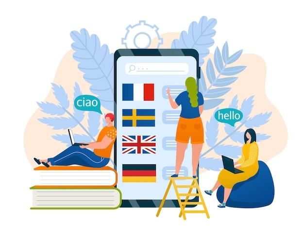 Tecnologia smartphone con linguaggio