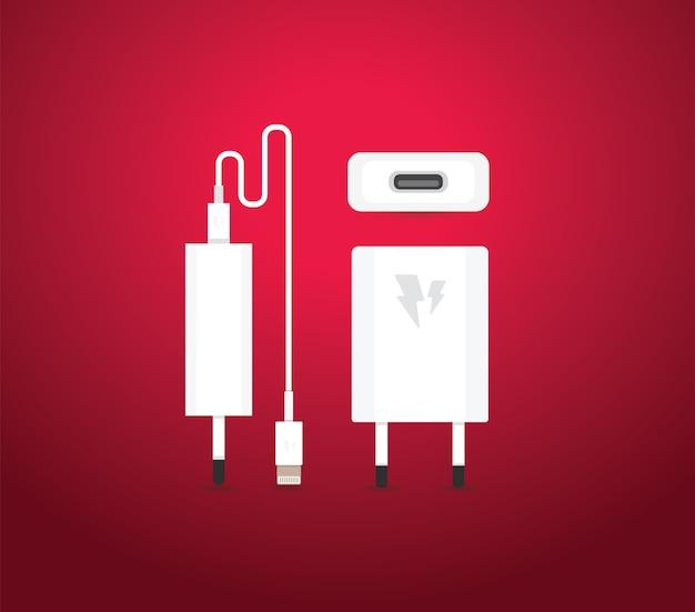 Adattatore caricatore usb per smartphone con cavo micro usb (presa e connettore per pc e dispositivi mobili)