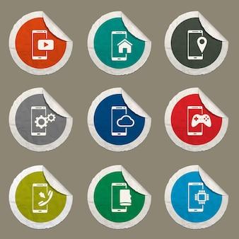 Icone vettoriali per smartphone per siti web e interfaccia utente
