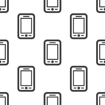 Smartphone, motivo vettoriale senza soluzione di continuità, modificabile può essere utilizzato per sfondi di pagine web, riempimenti a motivo