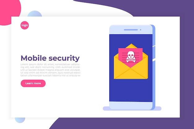 Notifica o avviso trojan malware virus smartphone