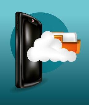 Smartphone con archiviazione cloud