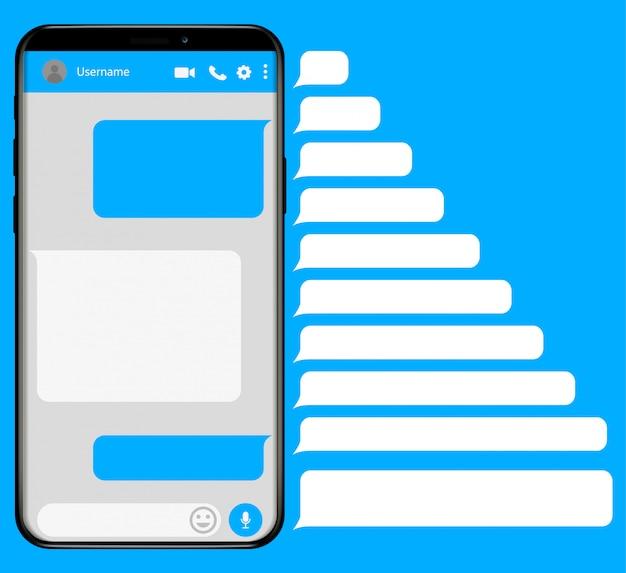 Smartphone con app di messaggistica sms