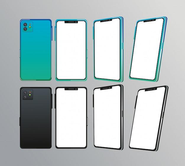 Set di dispositivi smartphone