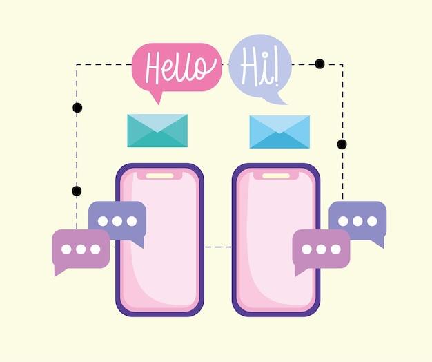 Messaggio di posta elettronica degli smartphone