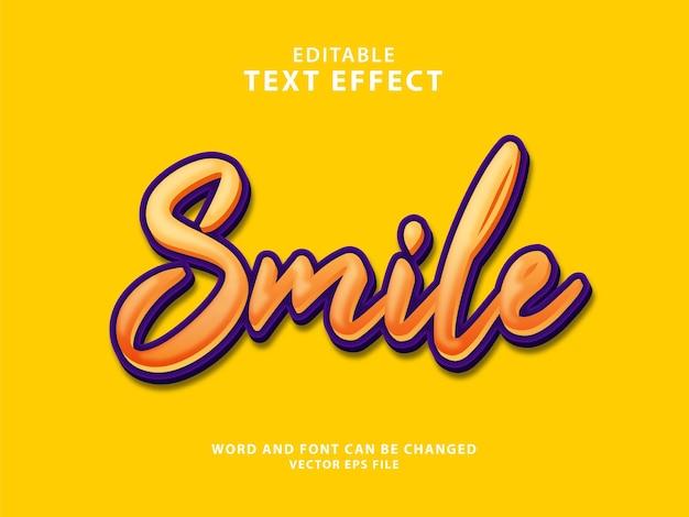 Sorriso 3d modificabile effetto testo eps