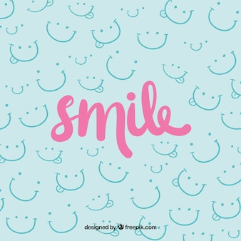 Disegno di sfondo di sorriso