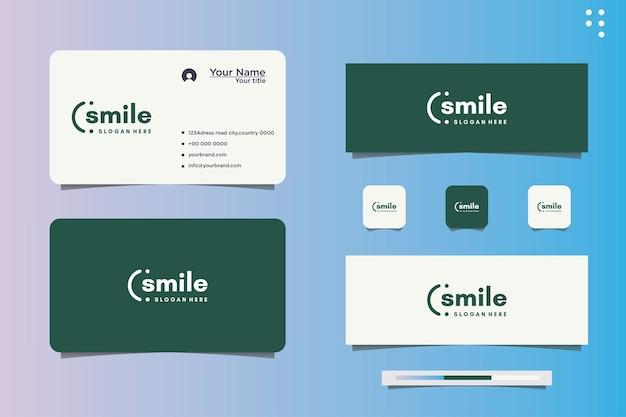 Illustrazione di disegno vettoriale di sorriso e biglietto da visita