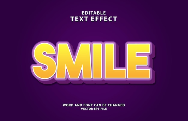 Sorriso giorno 3d sorriso effetto testo modificabile