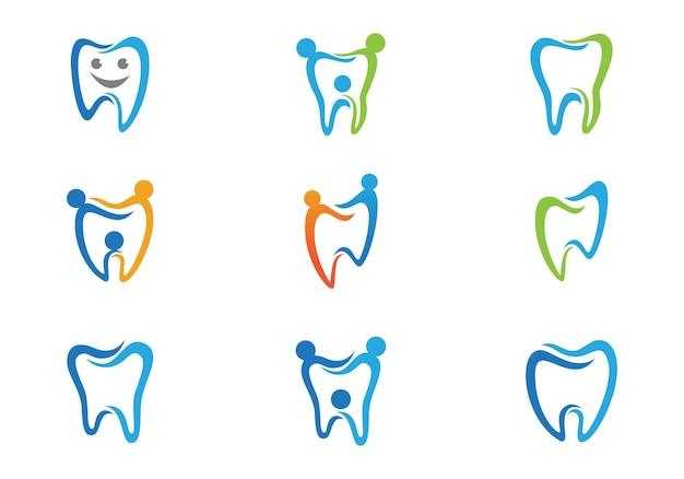 Smile dental logo modello icona illustrazione vettoriale design