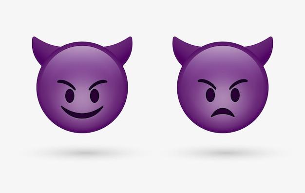 Smile devil emoticon face o emoji arrabbiato cattivo cattivo