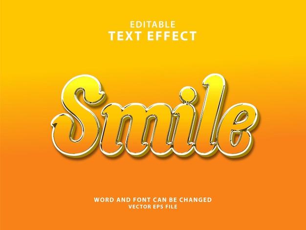 Effetto di testo 3d modificabile con sorriso