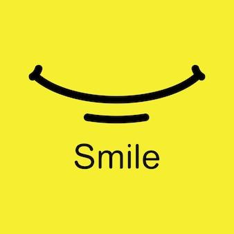 Disegno del modello di vettore di emoticon di sorriso