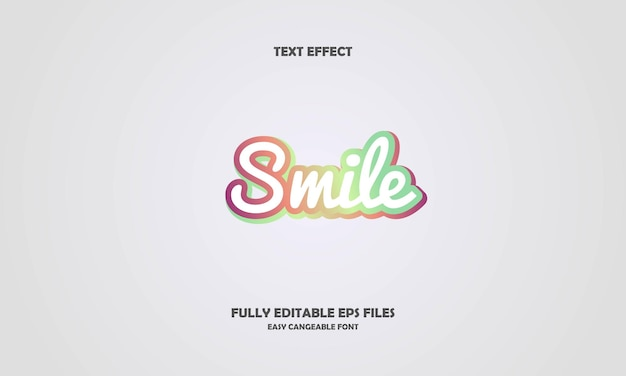 Effetto testo sorriso