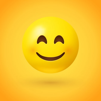 Un emoji faccia sorridente