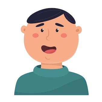 Illustrazione sorridente del giovane