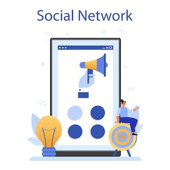 Piattaforma o servizio online smm.
