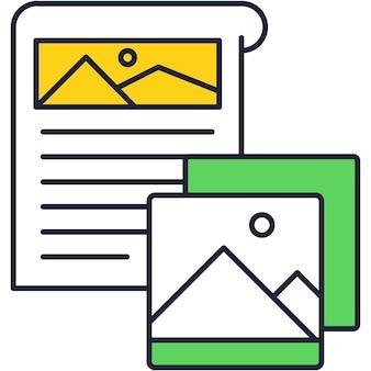 Smm planner icona vettoriale contorno piatto design