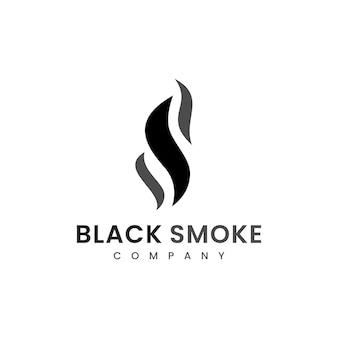 Fumo fuoco fiamma torcia brucia ispirazione per il design del logo