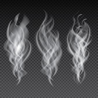 Set di fumo isolato su sfondo trasparente.