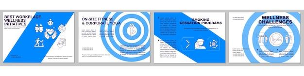 Modello di brochure per programmi per smettere di fumare