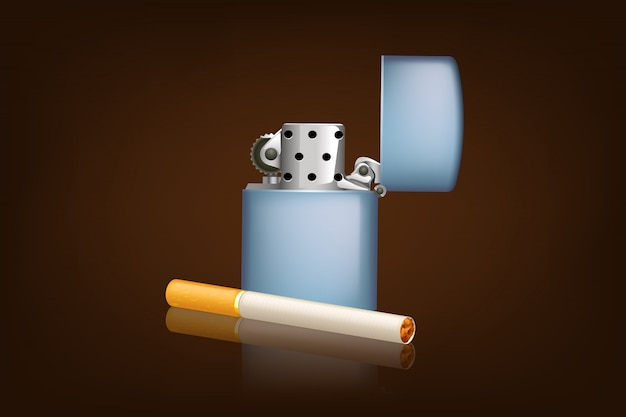 Fumo di sigaretta e zippo
