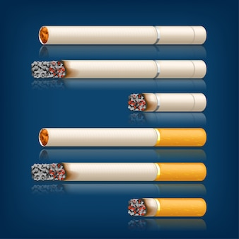 Set di sigarette fumatori