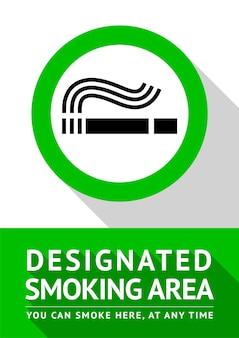 Posto per fumatori nuovo poster, illustrazione vettoriale per la stampa