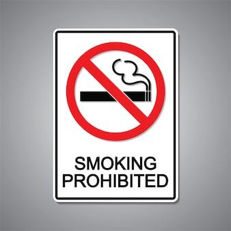 Segno vietato fumare