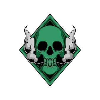 Illustrazione di teschio fumoso
