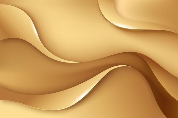 Sfondo liscio onda dorata