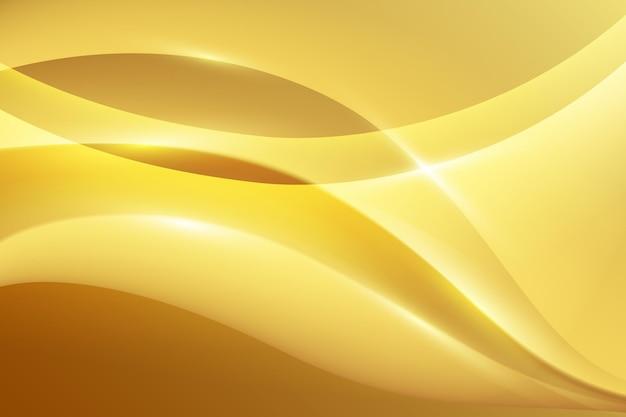 Carta da parati liscia onda dorata