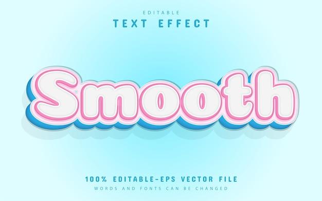 Testo liscio, effetto testo in stile cartone animato