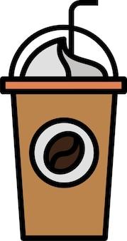 Stile dell'icona del caffè frullato per l'applicazione di stampa del design del poster del documento del sito web