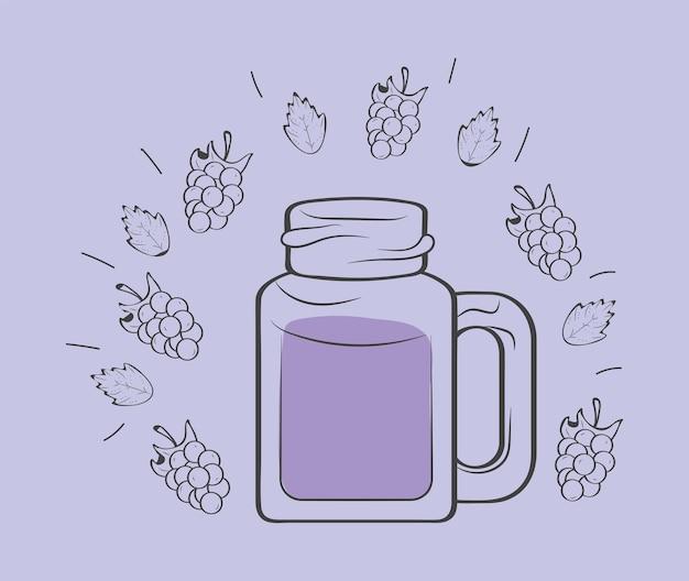 Bevanda di frutta frullato in barattolo