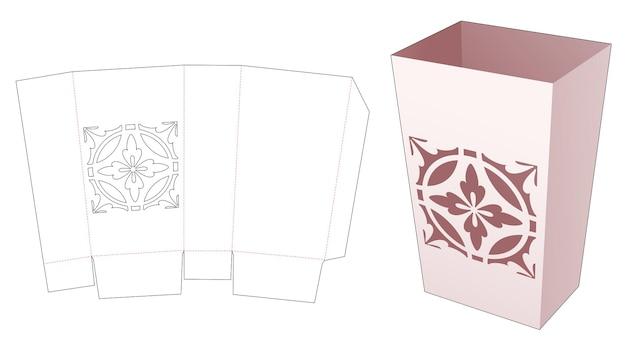 Contenitore per snack con modello fustellato stencil mandala