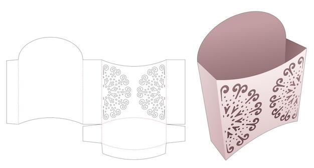 Contenitore per snack con modello fustellato di mandala stampato