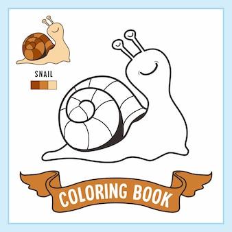 Libro da colorare di animali lumaca