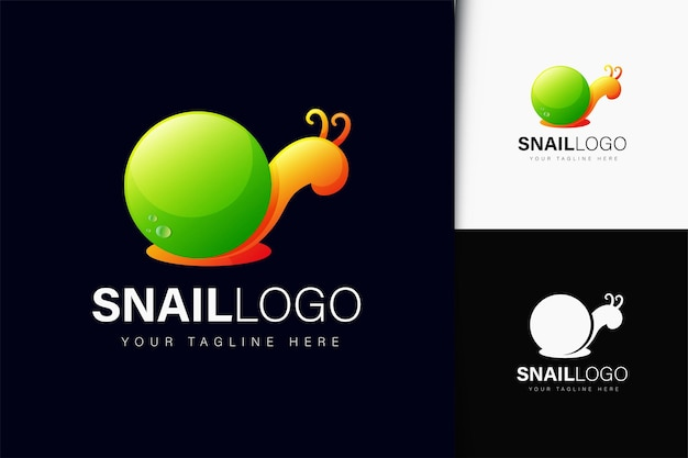 Logo design lumaca con gradiente