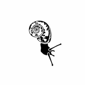 Lumaca logo simbolo stencil design tattoo vector illustration