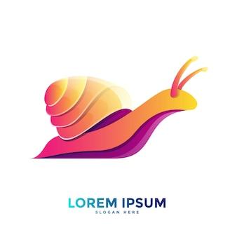 Modello di logo di lumaca