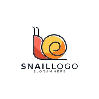 Logo colorato lumaca semplice
