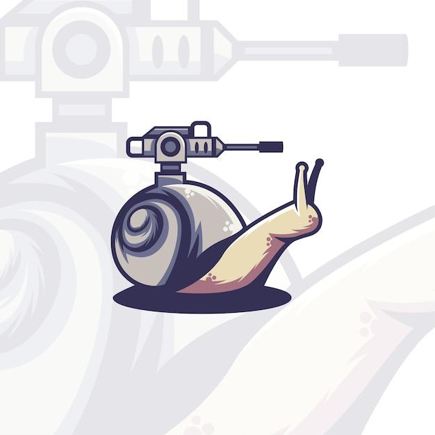 Concetto di logo di serbatoio di lumaca