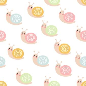 Seamless pattern di lumache
