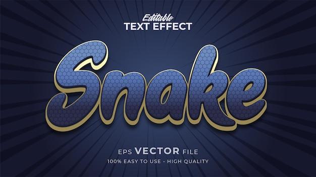 Effetto di testo modificabile serpente