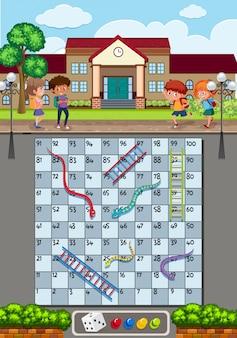 Un gioco a scala di serpenti