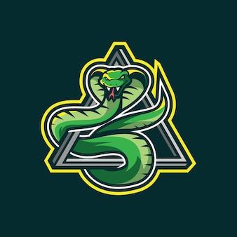 Disegno del logo mascotte serpente