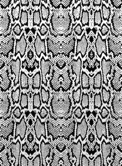 Texture della pelle di pitone serpente. modello senza cuciture nero su sfondo bianco.